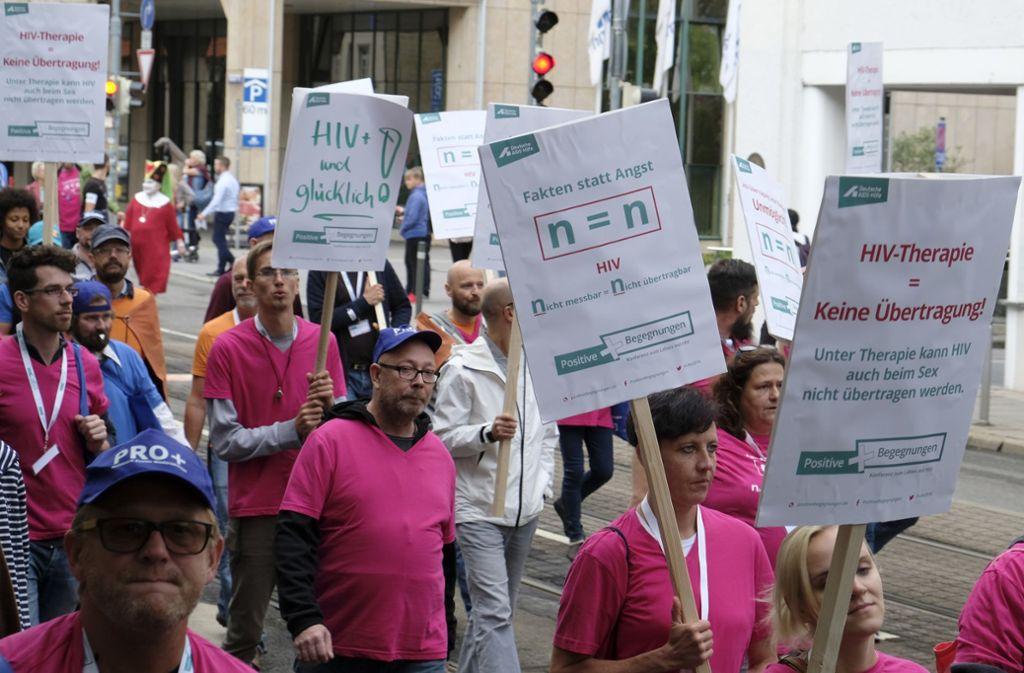 Rund 350 Menschen nahmen am Samstag in Stuttgart an der Demonstration teil. Foto: Lichtgut/Michael Latz