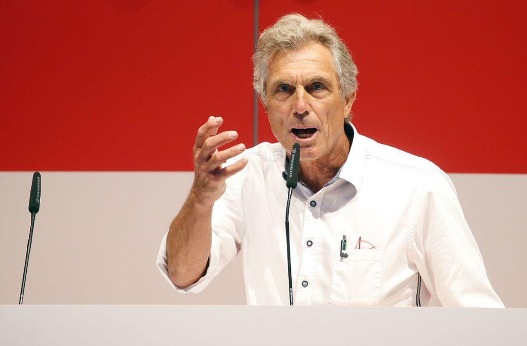 Rainer Adrion hat eine fulminante Rede gehalten. Foto: Baumann