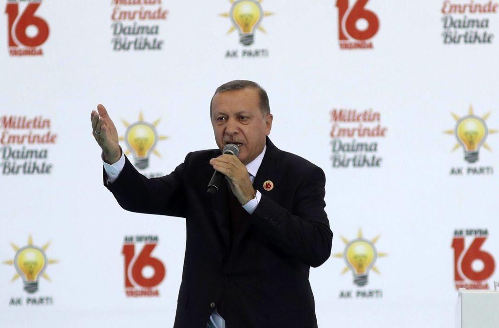 Erdogan ruft zu einem Wahlboykott auf (Archivbild). Foto: AFP