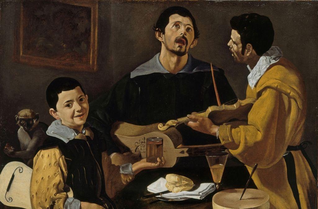"""Pralles Leben: """"Die drei Musikanten"""" von Diego Velázquez Foto: Berliner Gemäldegalerie"""