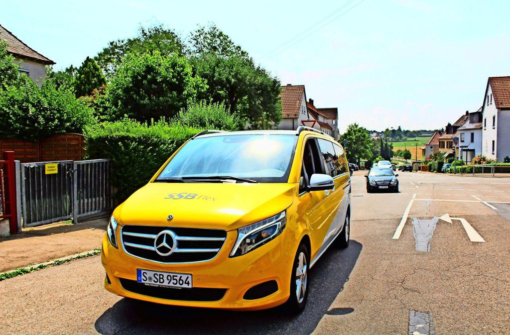 Fahren die SSB-Flex-Taxis (hier in Degerloch) bald auch in Kaltental? Foto: Tilman Baur