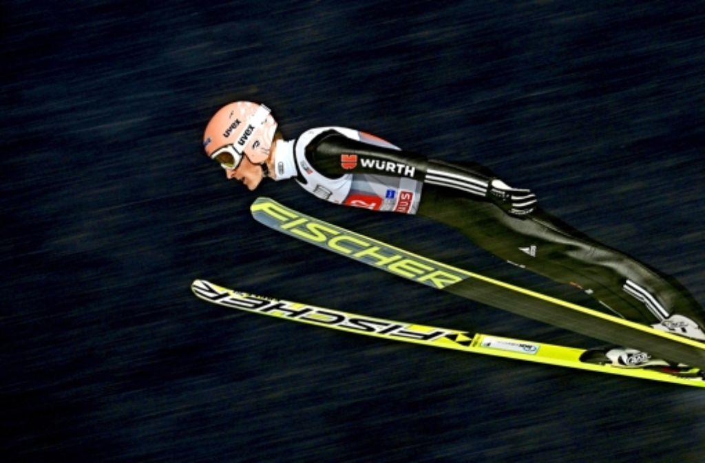 Severin Freund bleibt in Oberstdorf weit hinter den Erwartungen zurück Foto: AFP