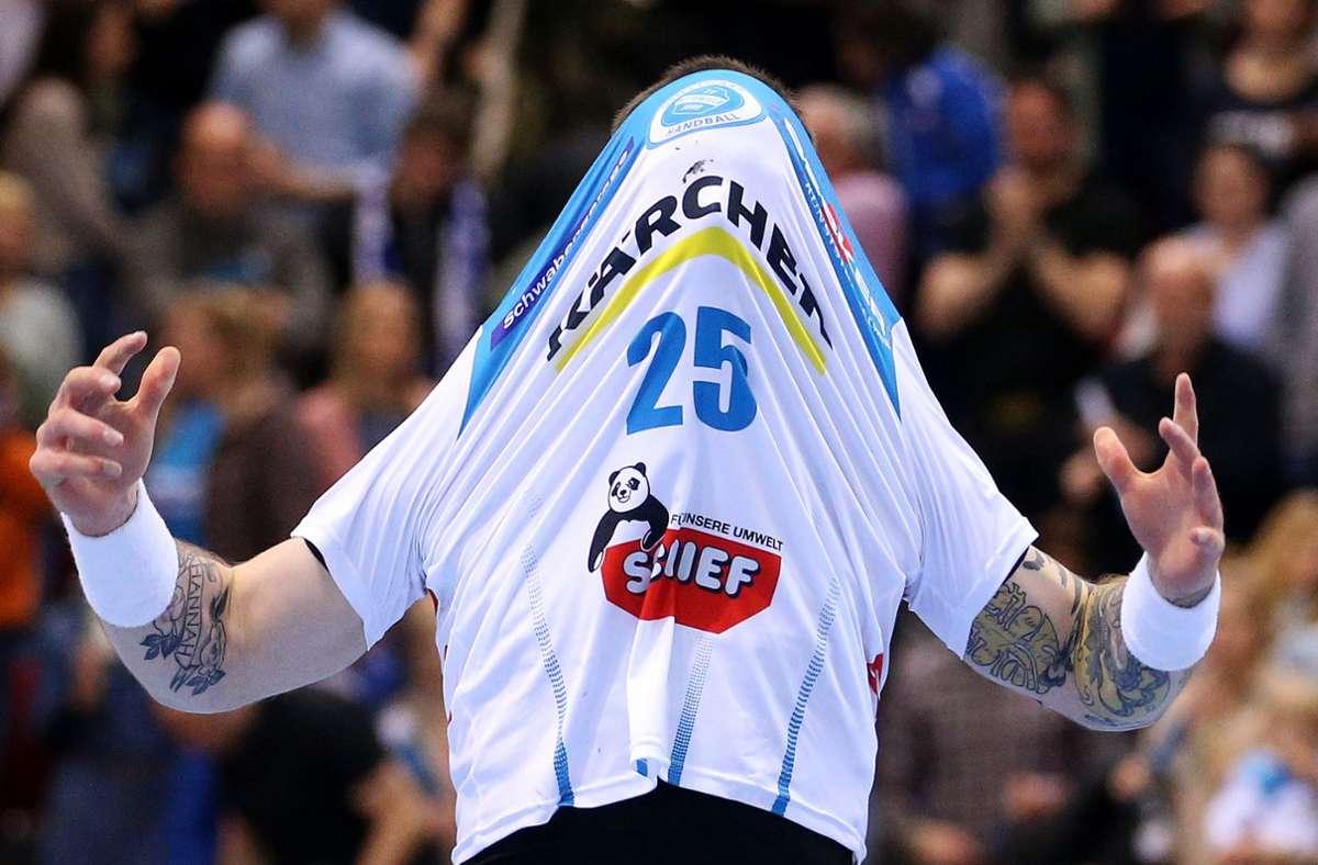 Dabei und doch nicht da: Der Handball-Bundesligist heißt TVB Stuttgart – doch die Landeshauptstadt taucht nur im Clubnamen, nicht aber im Sponsorenpool des Vereins auf. Foto: Baumann
