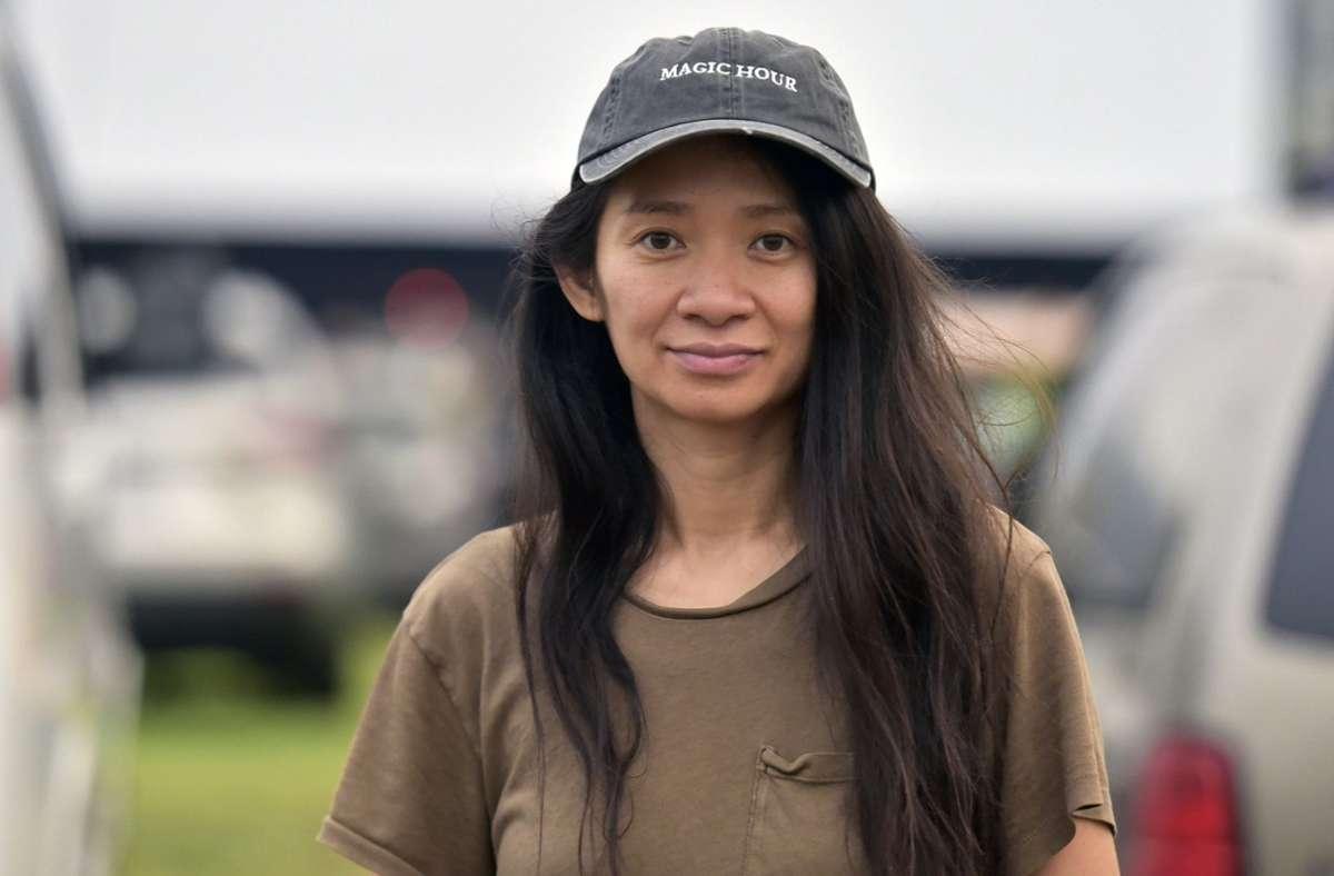 """Der Goldene Löwe des Filmfestivals Venedig geht an das US-Drama """"Nomadland"""" der in China geborenen Regisseurin Chloé Zhao. Foto: AP/Richard Shotwell"""