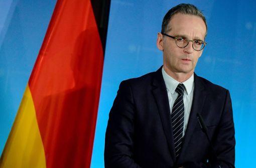 Außenminister Heiko Maas will vermitteln