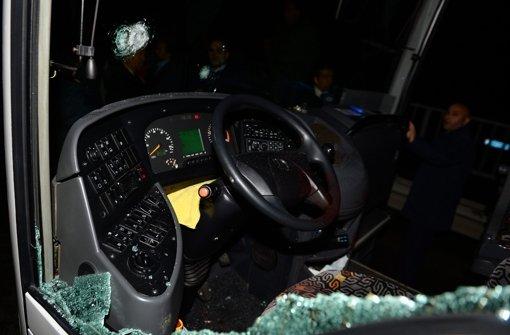 Mannschaftsbus von Fenerbahce beschossen