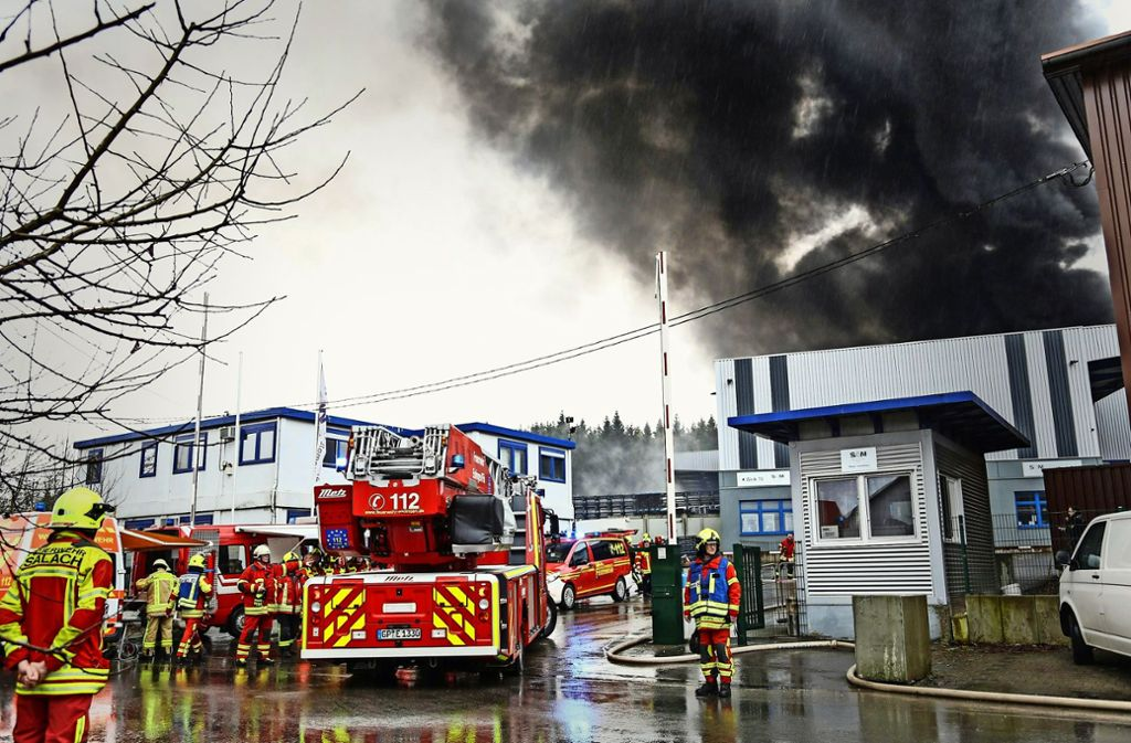 Am 10. März wurde die Galvanik der Firma SAM in Böhmenkirch bei einem Brand komplett zerstört. Foto: 7aktuell.de/Christina Zambito/Archiv