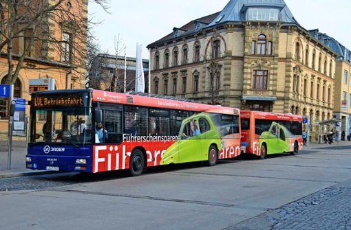 Wie kommt der Schnellbus in Ludwigsburg durch die City?