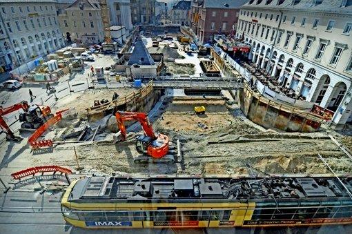 Karlsruhe ist eine Baustelle; aber lohnt sich der Aufwand? Der Bundesrechnungshof zweifelt und stellt Zuschüsse in Frage. Foto: Stefan Jehle