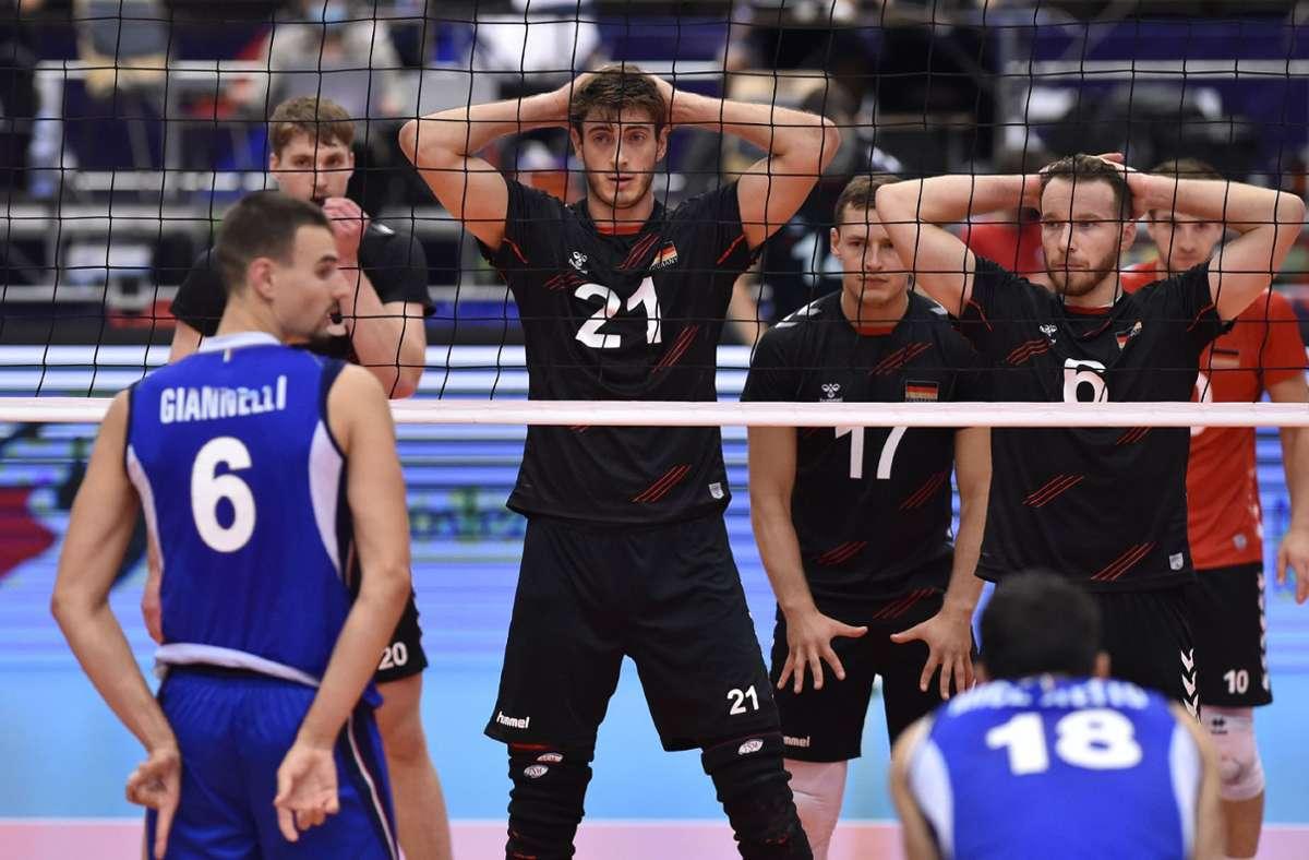 Deutschland ist bei der Volleyball-EM im Viertelfinale an Italien gescheitert. Foto: dpa/Ožana Jaroslav