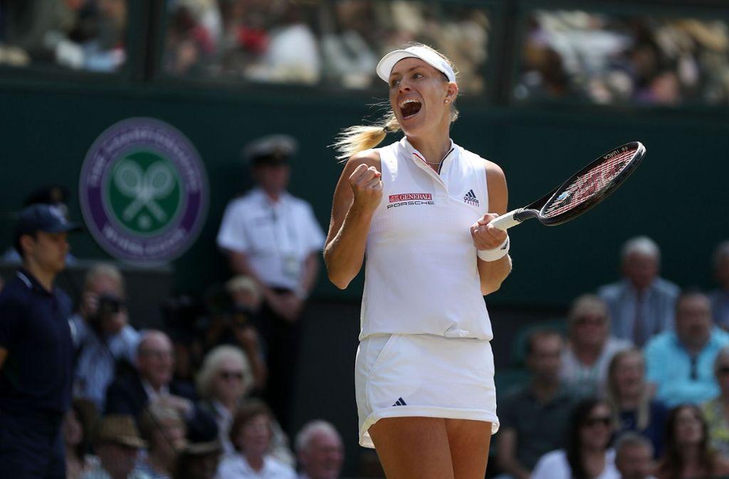 Angelique Kerber steht zum zweiten Mal im Finale des Grand-Slam-Klassikers in Wimbledon. Foto: AFP