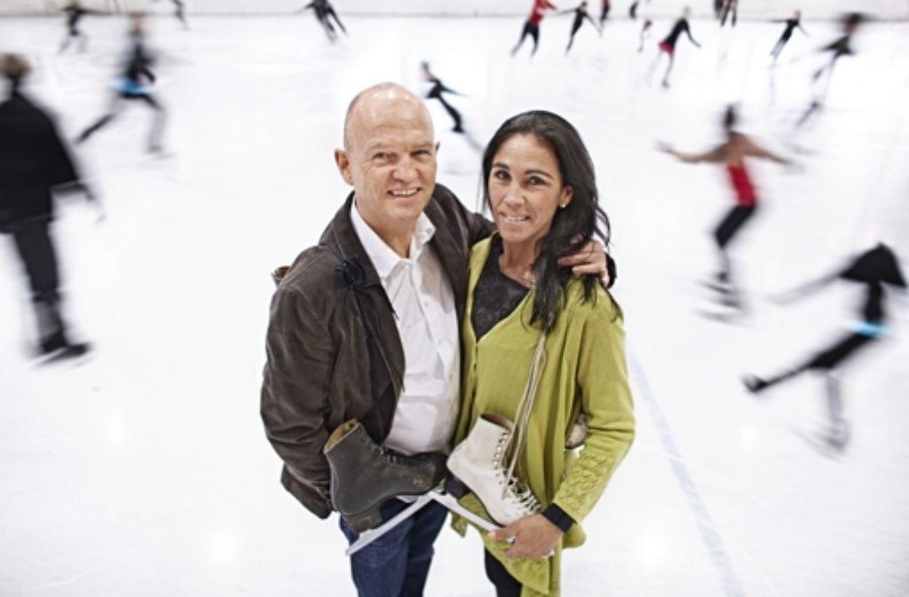 Freudiges Wiedersehen auf der Waldau: der 55-jährige Andreas Nischwitz und die 47-jährige Christina Jöst, geborene Riegel Foto: Heinz Heiss