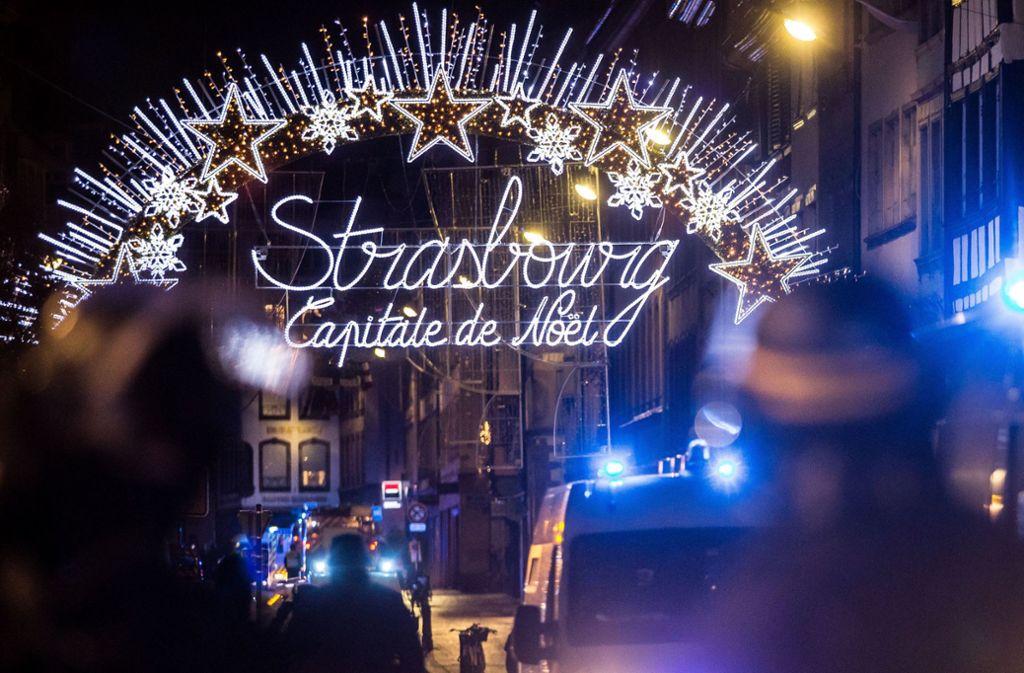 Auf dem Weihnachtsmarkt in Straßburg ist ein Anschlag verübt worden. Foto: dpa