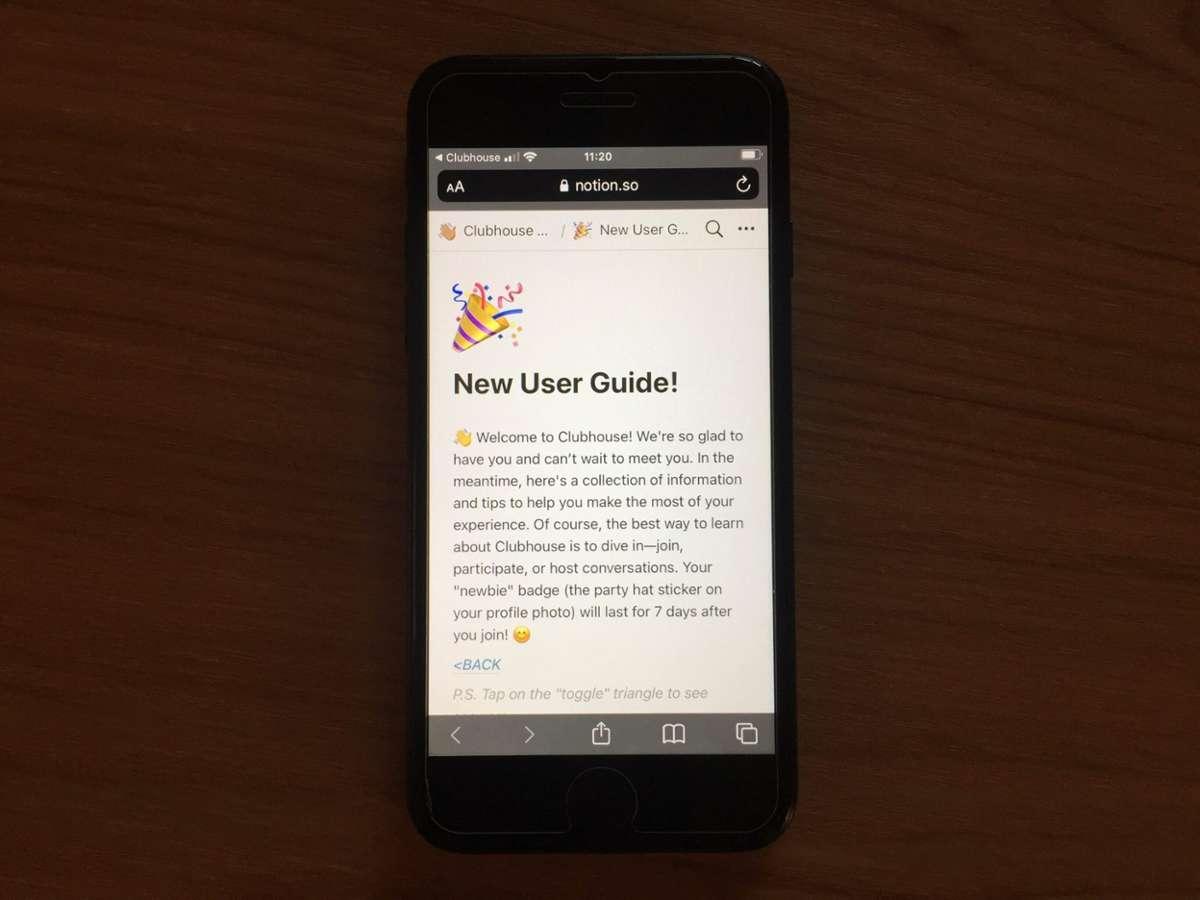 User-Guide für neue Mitglieder. Foto: Lukas Böhl