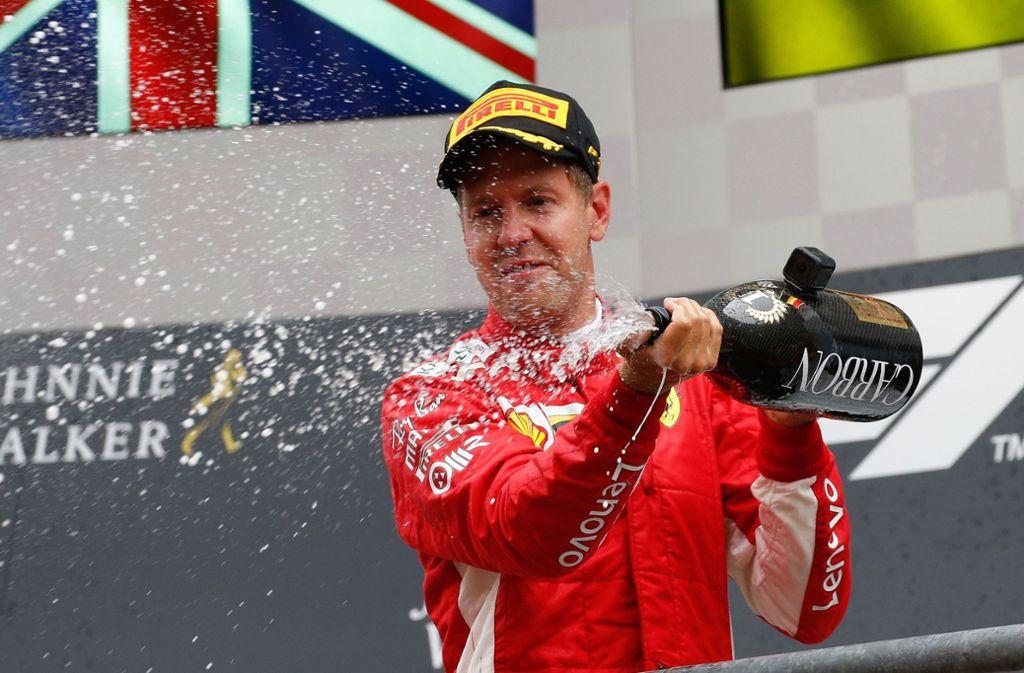 Sebastian Vettel hat in Belgien gewonnen. Foto: Belga