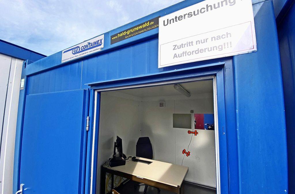 Was es in Herrenberg und Schorndorf schon gibt, öffnet nun auch in Ludwigsburg: Ein Zentrum, in dem sich alle Bürger bei Corona-Verdacht testen lassen können. Foto: 7aktuell.de/Alexander Hald