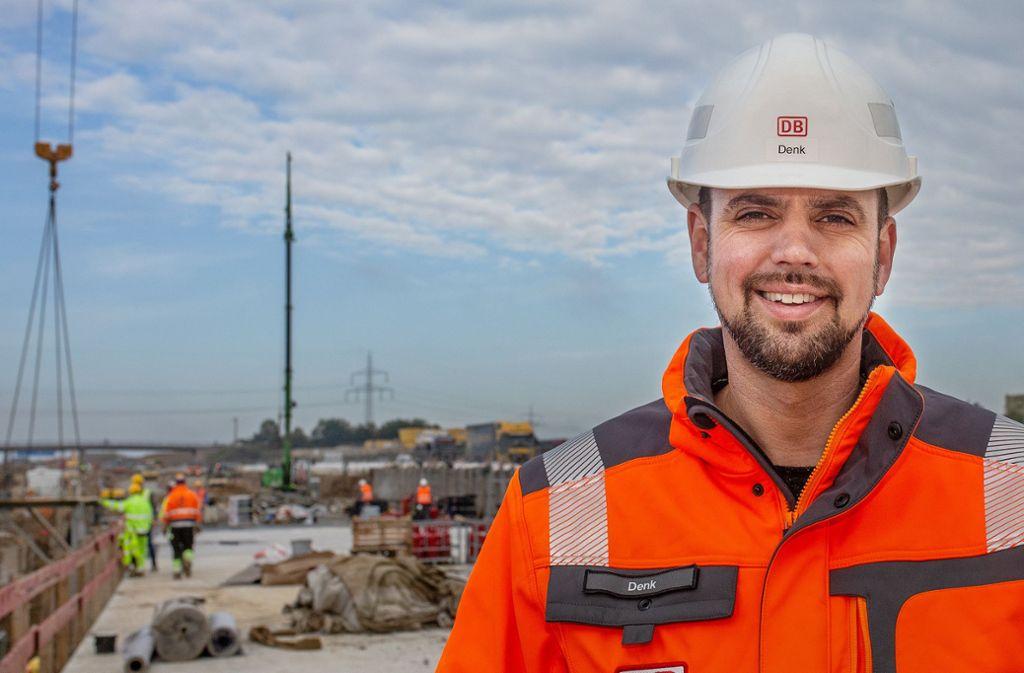 Benjamin Denk kümmert sich als Abschnittsleiter um den Bau von Stuttgart 21 entlang der A8 auf den Fildern. Foto: Ines Rudel/Rudel