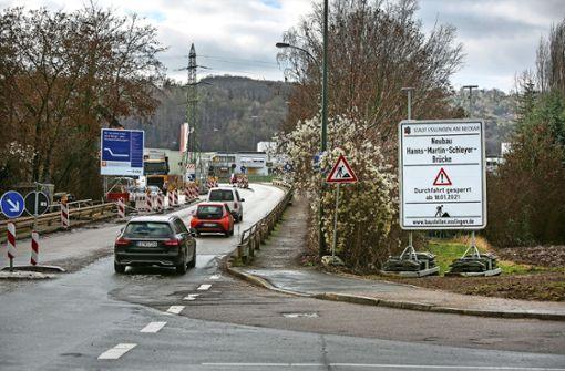 Schleyer-Brücke ab Montag gesperrt
