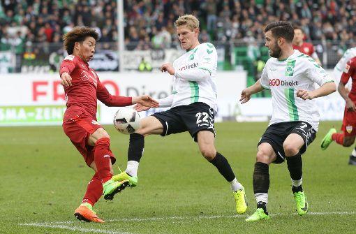 Das 0:1 in Fürth soll für den VfB Stuttgart ein Ausrutscher bleiben. Foto: Baumann