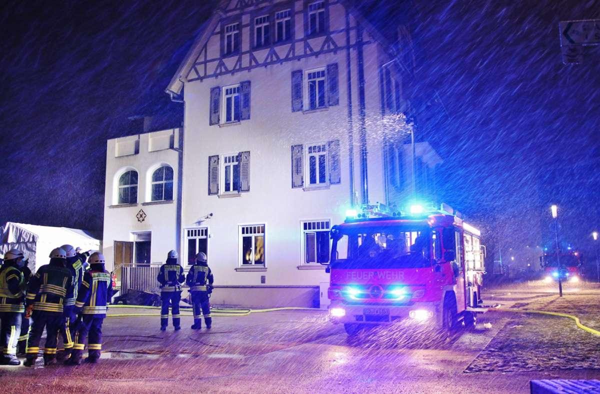 Im Hotel Hotel Villa Hirzel in Schwäbisch Gmünd ist in der Nacht zum Donnerstag ein Feuer ausgebrochen. Foto: 7aktuell.de/Kevin Lermer
