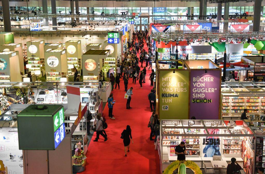 Die Frankfurter Buchmesse muss dieses Jahr ein Hygienekonzept erarbeiten. Foto: dpa/Jens Kalaene