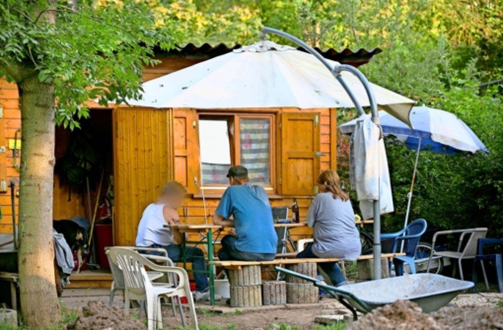 Was nach Schrebergartenromantik aussieht, ist das Berberdorf, eine Unterkunft für 21wohnungslose Menschen. Foto: Horst Rudel
