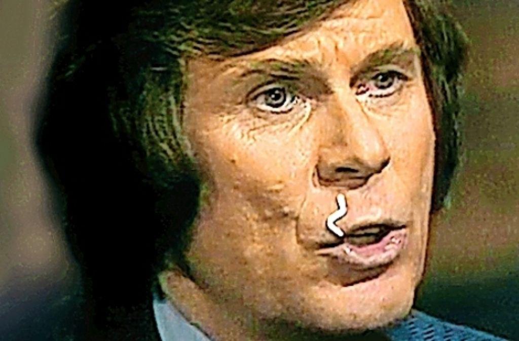 Nicht nur eine Nudel kann einem – wie hier bei Loriot – schräg im Gesicht hängen. Foto: Warner