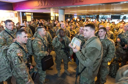 Soldaten der US-Panzerbrigade eingetroffen