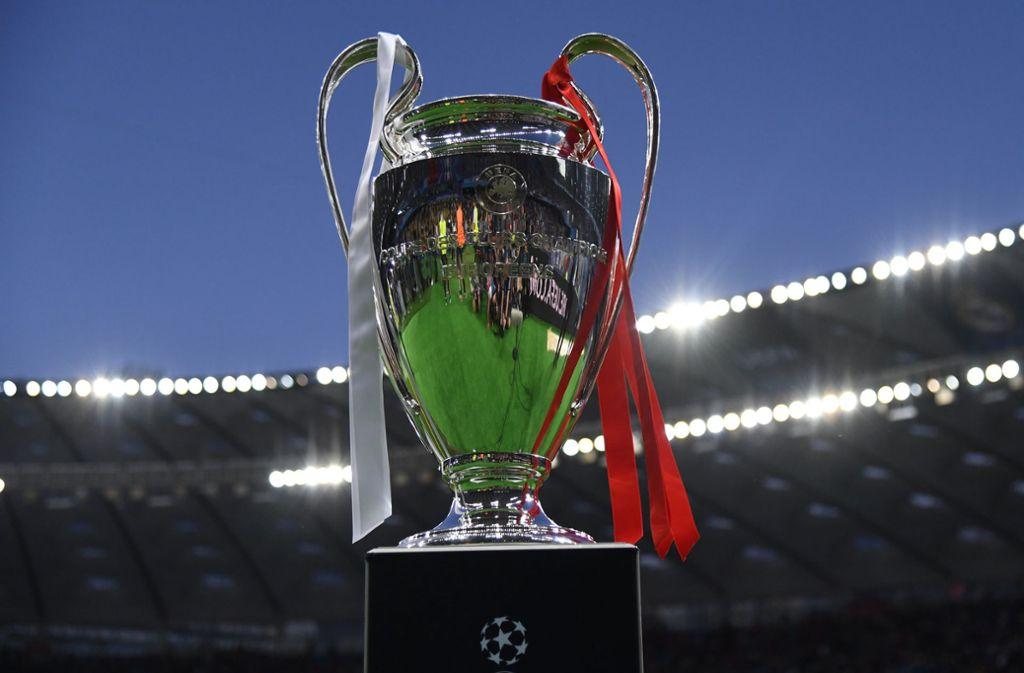 Der Champions-League-Pokal ist das Objekt der Begierde. Foto: dpa