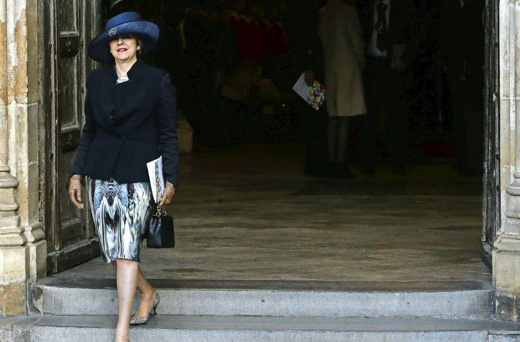 Die britische Premierministerin Theresa May will bis zum 31. März in Brüssel den Austritt einreichen. Foto: AFP