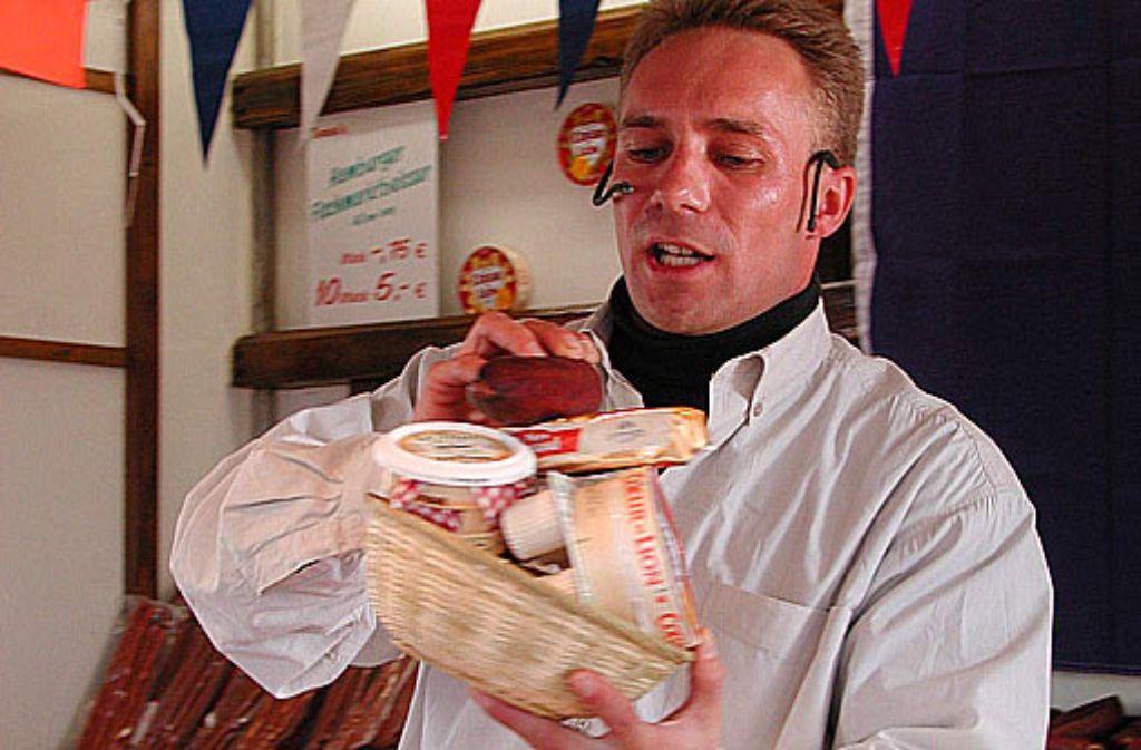 Käse Tommi Thomas Rehberg liebt was er tut und den Stuttgarter Fischmarkt.  Foto: WAGS/Hamburg events GmbH