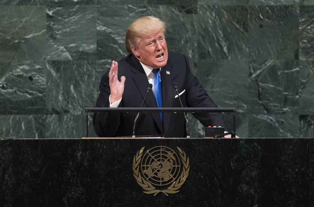 Trumps erste Rede vor der Vereinten Nationen schürt Ängste Foto: AFP