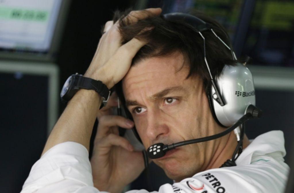 Toto Wolff möchte mit Mercedes wieder um die Formel-1-WM fahren. Foto: AP