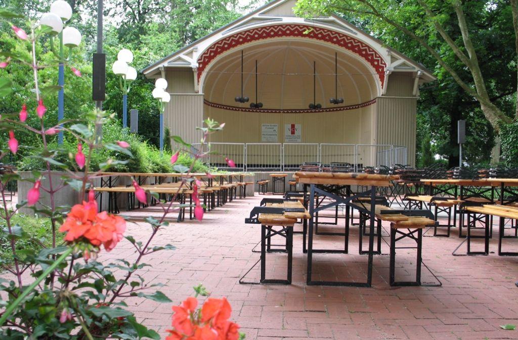 In der Konzertmuschel im Kurpark gibt es am Sonntag Blasmusik. Foto: Ulrike Koch
