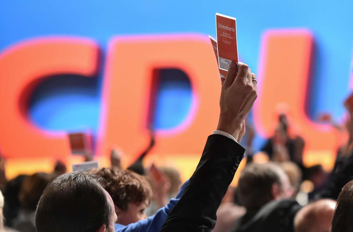 Anfang Dezember ist der CDU-Parteitag in Stuttgart geplant, doch das er stattfinden kann, ist unwahrscheinlich. (Archivbild) Foto: picture alliance / dpa/Uwe Anspach