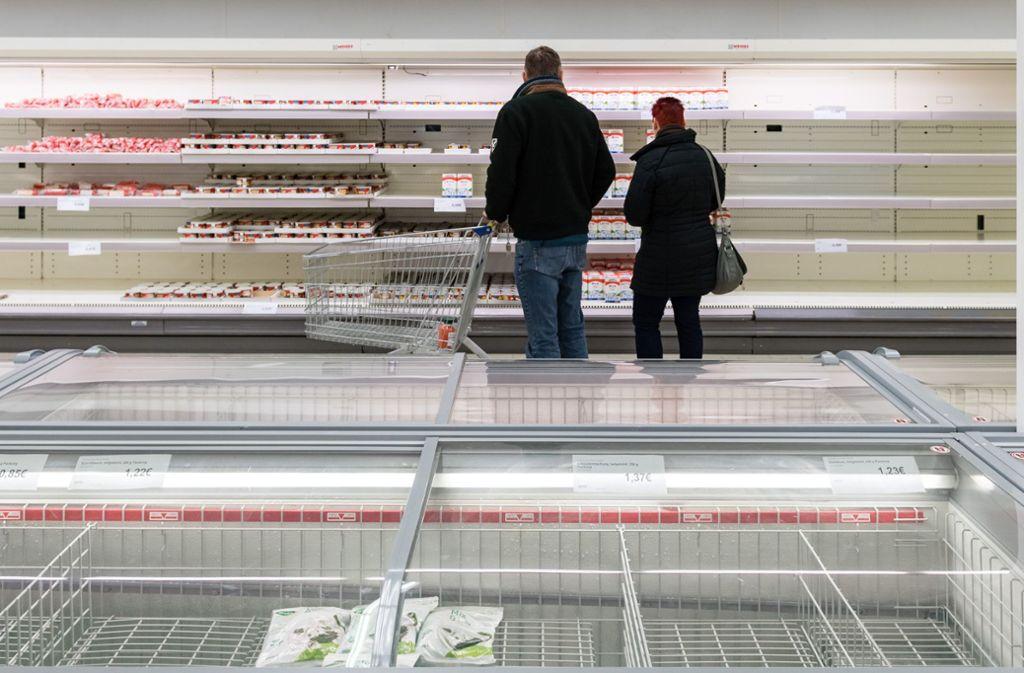 Zahlreiche Produkte waren in Leipzig ausverkauft. Foto: Getty Images Europe