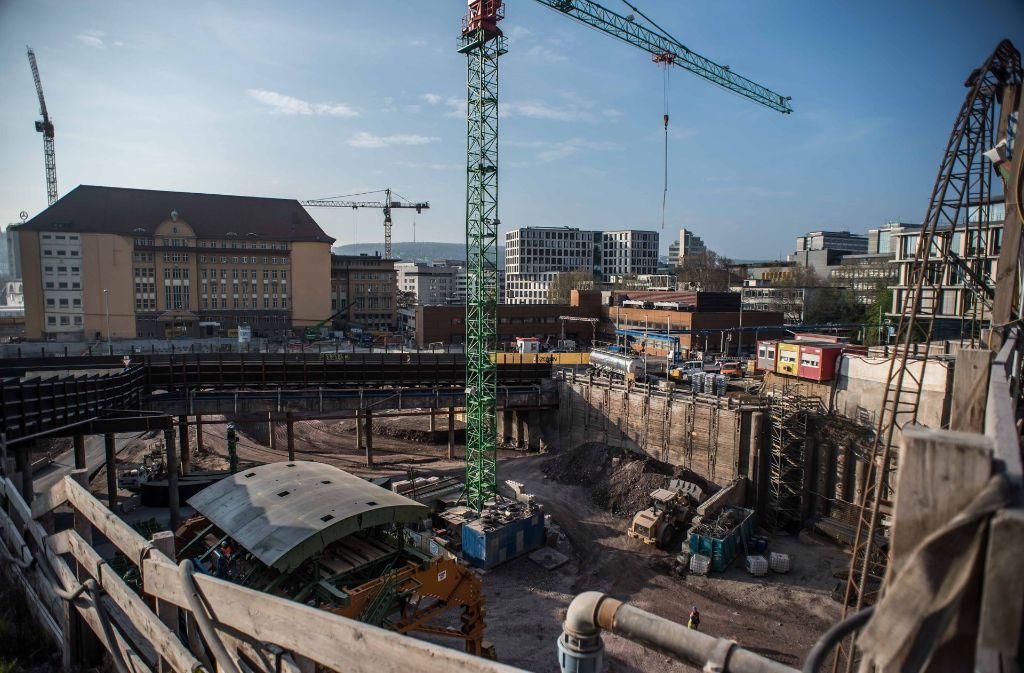 Bauarbeiten der Bahn in der Stuttgarter Innenstadt für S 21 Foto: Lichtgut/Max Kovalenko