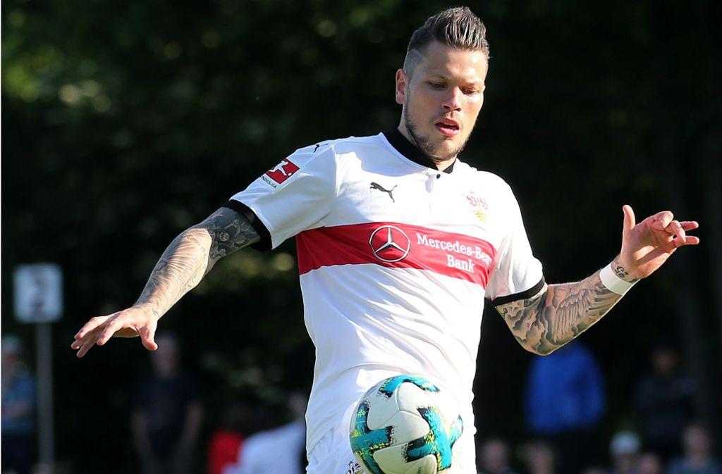 Daniel Ginczek und der VfB Stuttgart können sich in der kommenden Saison ganz auf die Bundesliga und den DFB-Pokal konzentrieren. Foto: Baumann