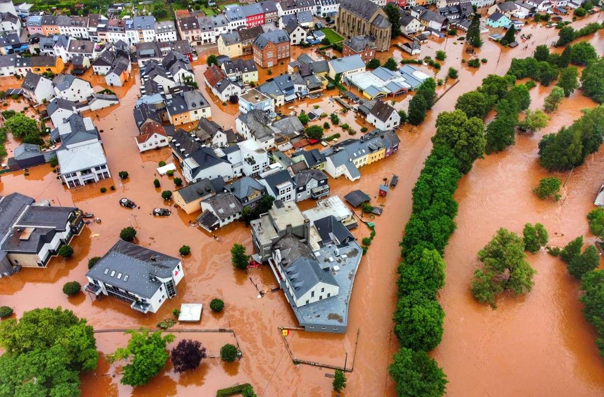 Hochwasser in Kordel in Rheinland-Pfalz Foto: dpa/Sebastian Schmitt