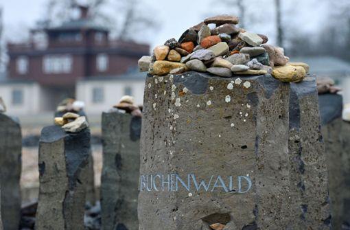 Gedenksteine mit Hakenkreuzen beschmiert
