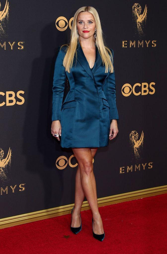 Als eine der Wenigen wählte Reese Witherspoon ein beinfreies Outfit.  Foto: Getty Images North America