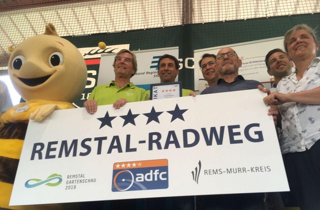 Das Zertifikat des Allgemeinen Deutschen Fahrrad-Clubs wird immer nur für drei Jahre verliehen. Foto: Martin Tschepe Foto: