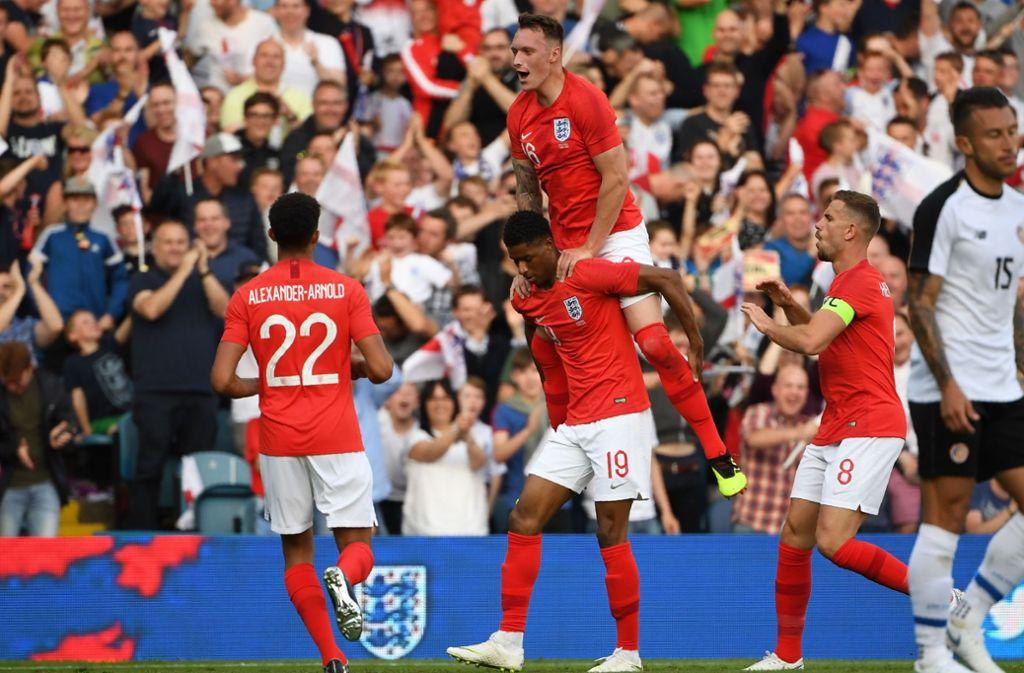 Die englische Nationalmannschaft will einen Überraschungserfolg landen. Foto: AFP