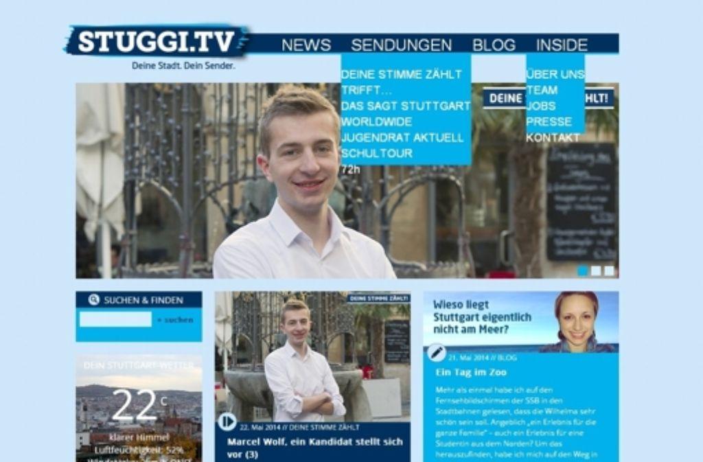 Marcel Wolf ist einer der fünf Jungwähler, die beim Degerlocher Sender  Stuggi-TV ihre Meinung zur anstehenden Kommunalwahl sagen. Foto: Screenshot
