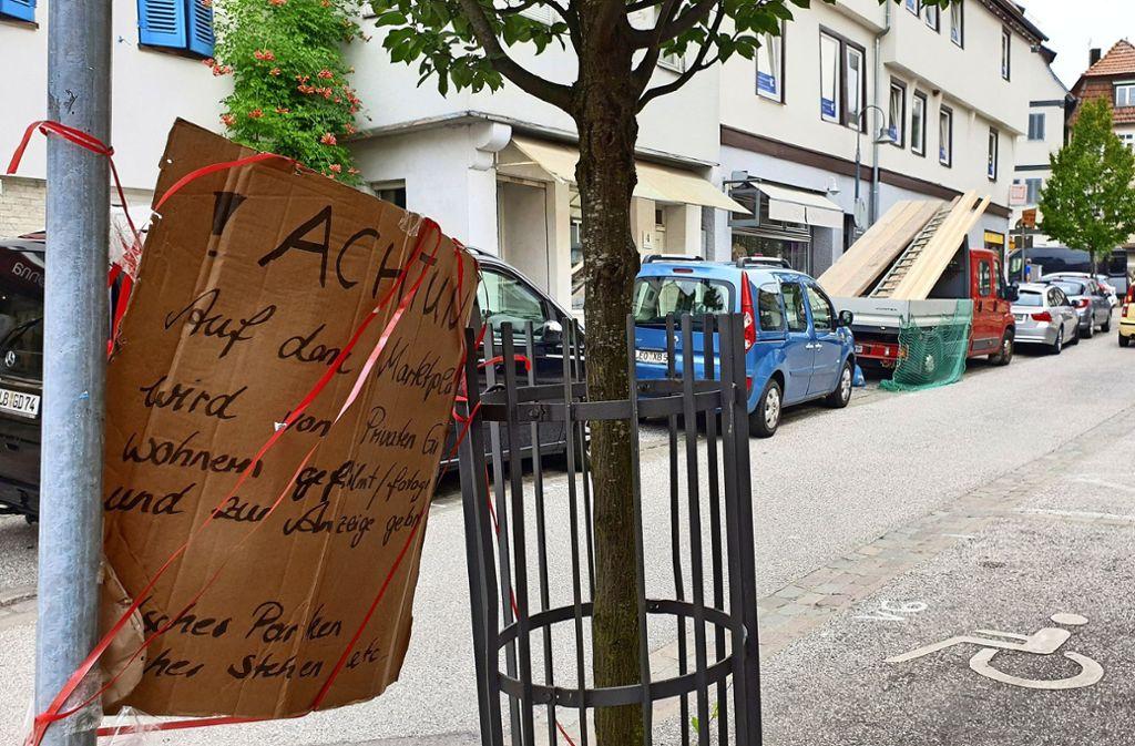 Die Nachbarschaft ist nicht begeistert von den Falschparker-Meldern und tut dies auch hin und wieder kund. Foto: Otto/LKZ