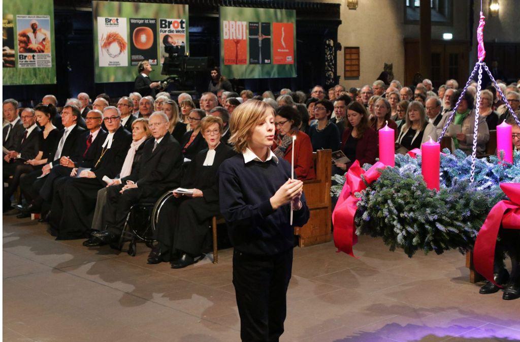 Eröffnet wurde der in der ARD übertragene Gottesdienst in der Leonhardskirche in Stuttgart. Foto: epd