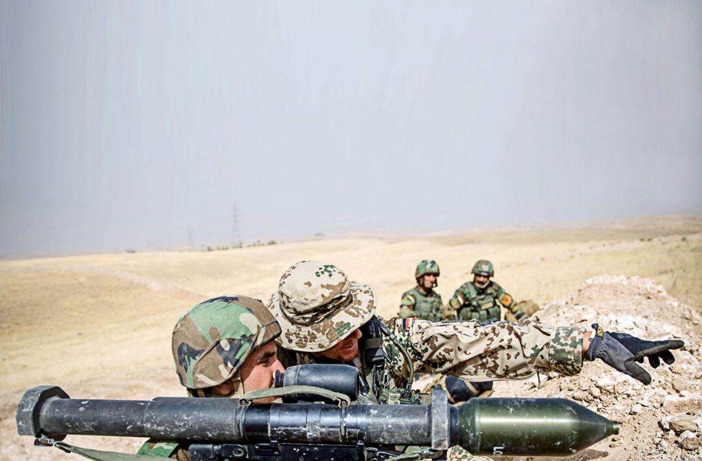 Die Bundeswehr zieht einen Teil ihrer Soldaten aus dem Irak ab. Foto: dpa/Michael Kappeler