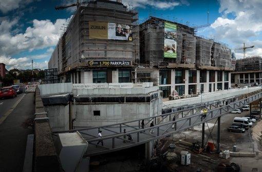 Das Milaneo soll am 9. Oktober eröffnet werden. Aus verschiedenen Gründen ist der Bau umstritten. Foto: Achim Zweygarth