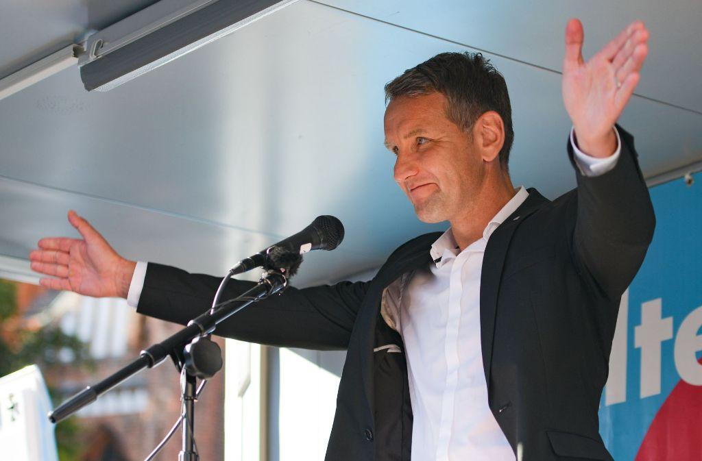 Der Thüringer AfD-Vorsitzende Björn Höcke hat mit massiver Kritik am Holocaust-Gedenken der Deutschen Empörung ausgelöst. Foto: dpa
