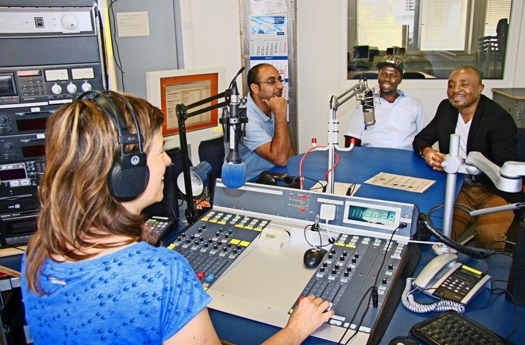 Das Freie Radio Stuttgart gibt  Flüchtenden eine Stimme. Foto: Wenke Böhm